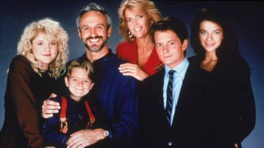 Cast of the tv show Family Ties.