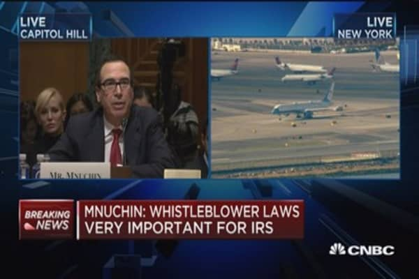Mnuchin: I would work with IRS to close loopholes