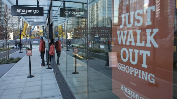 An Amazon Go grocery store in Seattle, Washington.