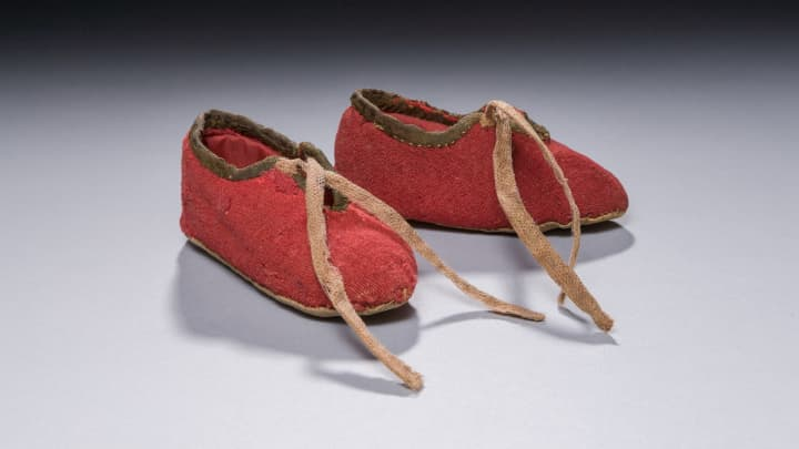 Red Baby Booties courtesy of the Museum of American Revolution