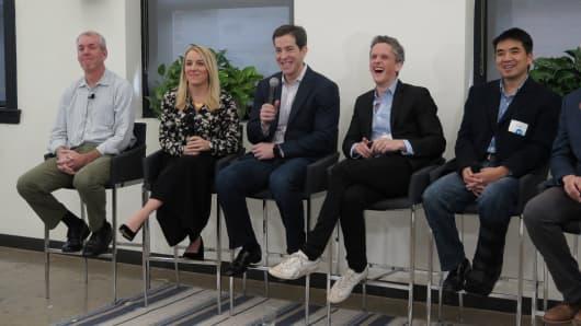 Okta Conference hosts Facebook VP of Platform Partnerships Sean Ryan, Slack VP of Product April Underwood, Okta CEO Todd McKinnon, Box CEO Aaron Levie Zoom, and CEO Eric Yuan