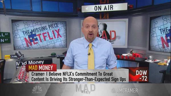 Cramer blames Amazon for the success of Tesla & Netflix