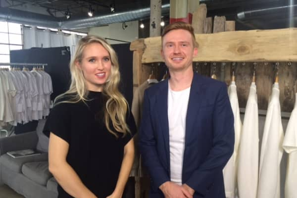 Siblings Kathryn and Christian Birky launched their business Lazlo, making sustainable high-end men's shirts, three years ago.