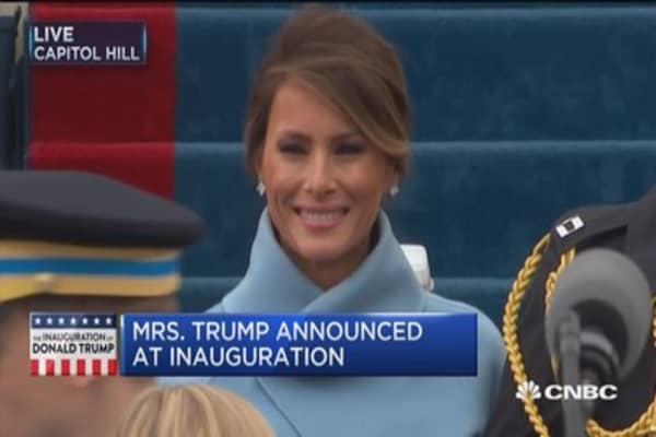 Mrs. Trump announced at inauguration