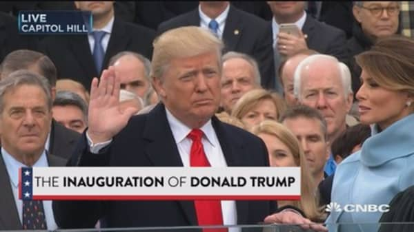 Donald Trump sworn in as 45th president of the U.S.