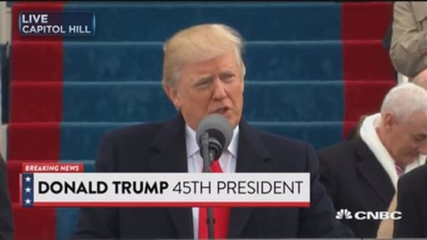 Trump speaks at inauguration: We will get the job done