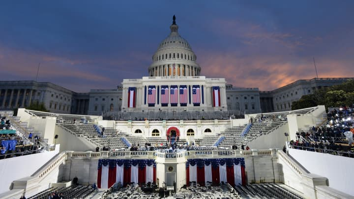 The U.S. Capitol building stands ahead of the 58th presidential inauguration in Washington, D.C., U.S., on Friday, Jan. 20, 2017.