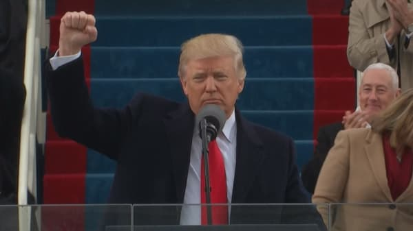 Trump gives first speech as President of the United States