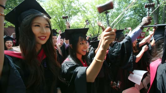Harvard Law school graduates wielded their gavels.