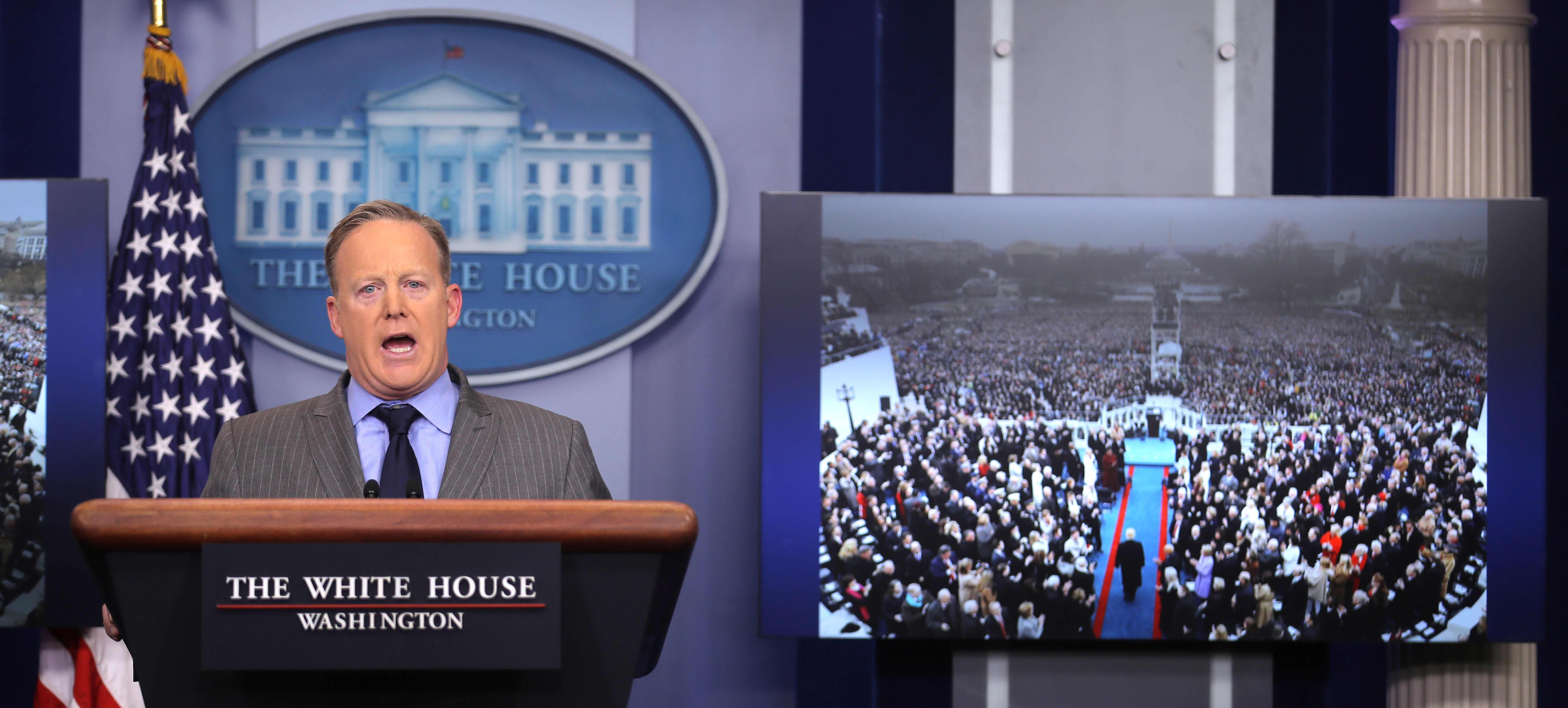 white house press secretary sean spicer rips media for 'false