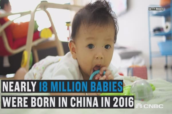 China's birthrate rises to highest level since 2000