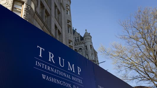 Trump International Hotel Washington DC stands in Washington, D.C., U.S.