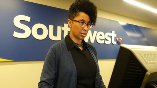 Catherine Mills, Southwest Airlines Customer Service Agent.
