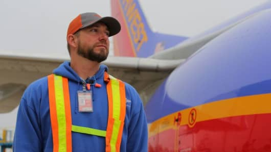 Shane Parker, Southwest Airlines Ramp Agent.
