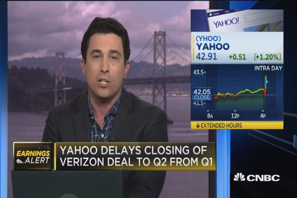Yahoo beats on top & bottom lines