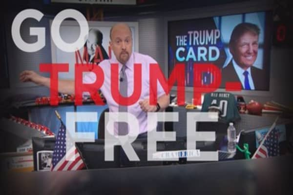 Cramer Remix: Stocks that benefit in a Trump-free zone