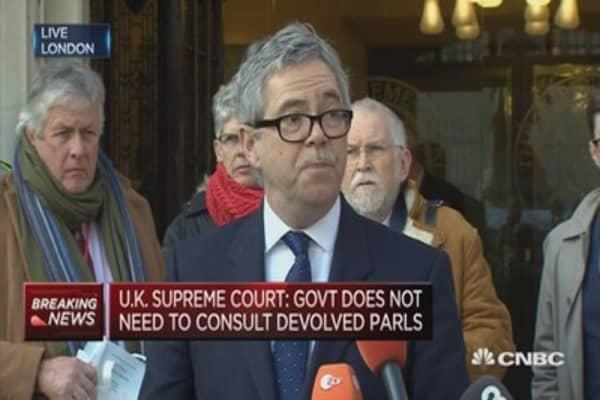 UK government devolution ruling a victory