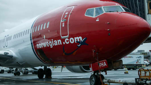A Boeing Co. 737 passenger aircraft, operated by Norwegian Air Shuttle ASA