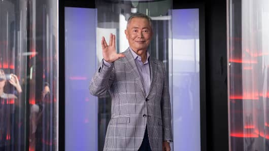 Actor George Takei at the Star Trek: The Star Fleet Academy Experience in 2016