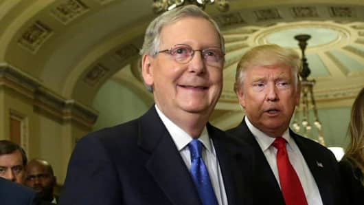 Senator Mitch McConnell and President Donald Trump