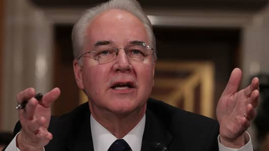 U.S. Health and Human Services Secretary Nominee Rep. Tom Price