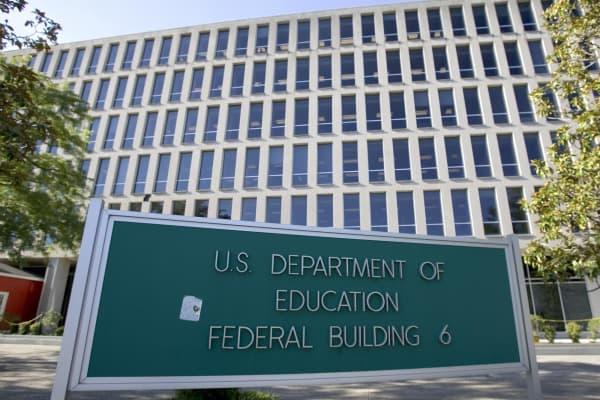 The US Department of Education building in Washington, DC