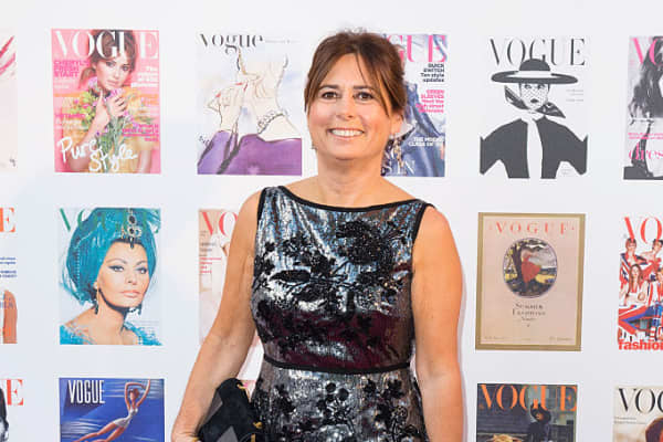 Alexandra Shulman at a gala celebrating the Vogue 100 Festival