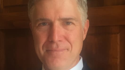 The 10th U.S. Circuit Court of Appeals shows Judge Neil Gorsuch.
