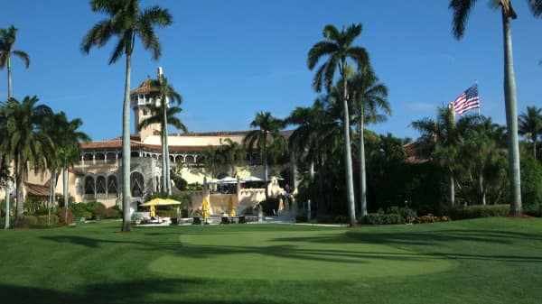 The Mar-a-Lago Club January 1, 2017 at Mar-a-Lago in Palm Beach, Florida.