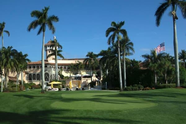 The Mar-a-Lago Club January 1, 2017 at Mar-a-Lago in Palm Beach, Florida.