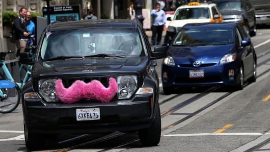 A Lyft car in San Francisco.