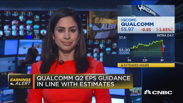Qualcomm EPS beats, revenues miss