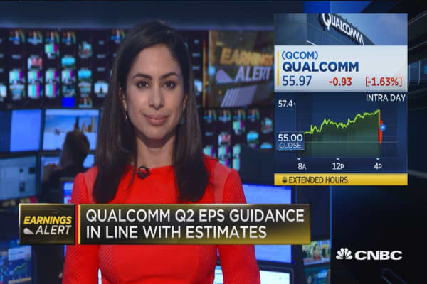 Qualcomm EPS beats, revenues miss