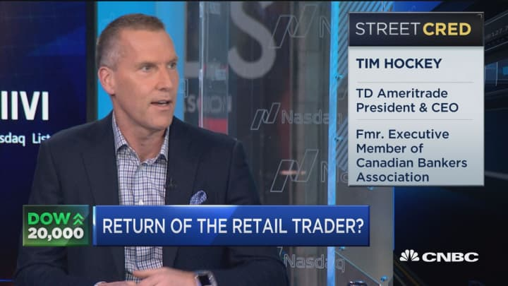 TD Ameritrade CEO: Clearly after election retail investor re-engaged