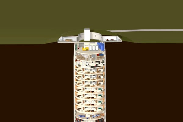 This survival silo for the super rich costs $3M per floor