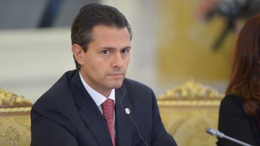 Mexican President Enrique Pena Nieto.