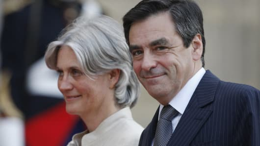 Francois Fillon and his wife Penelope Fillon