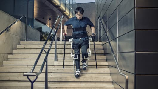 Hyundai says it hopes to make the H-MEX more affordable than existing exoskeletons, since it has factories capable of mass-producing other sorts of mobility devices.