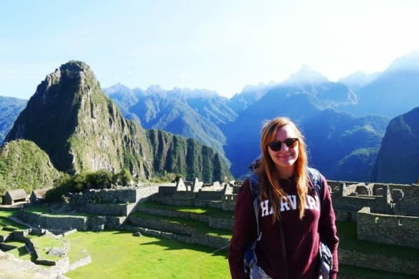 Sally McGrath in Peru during her gap year