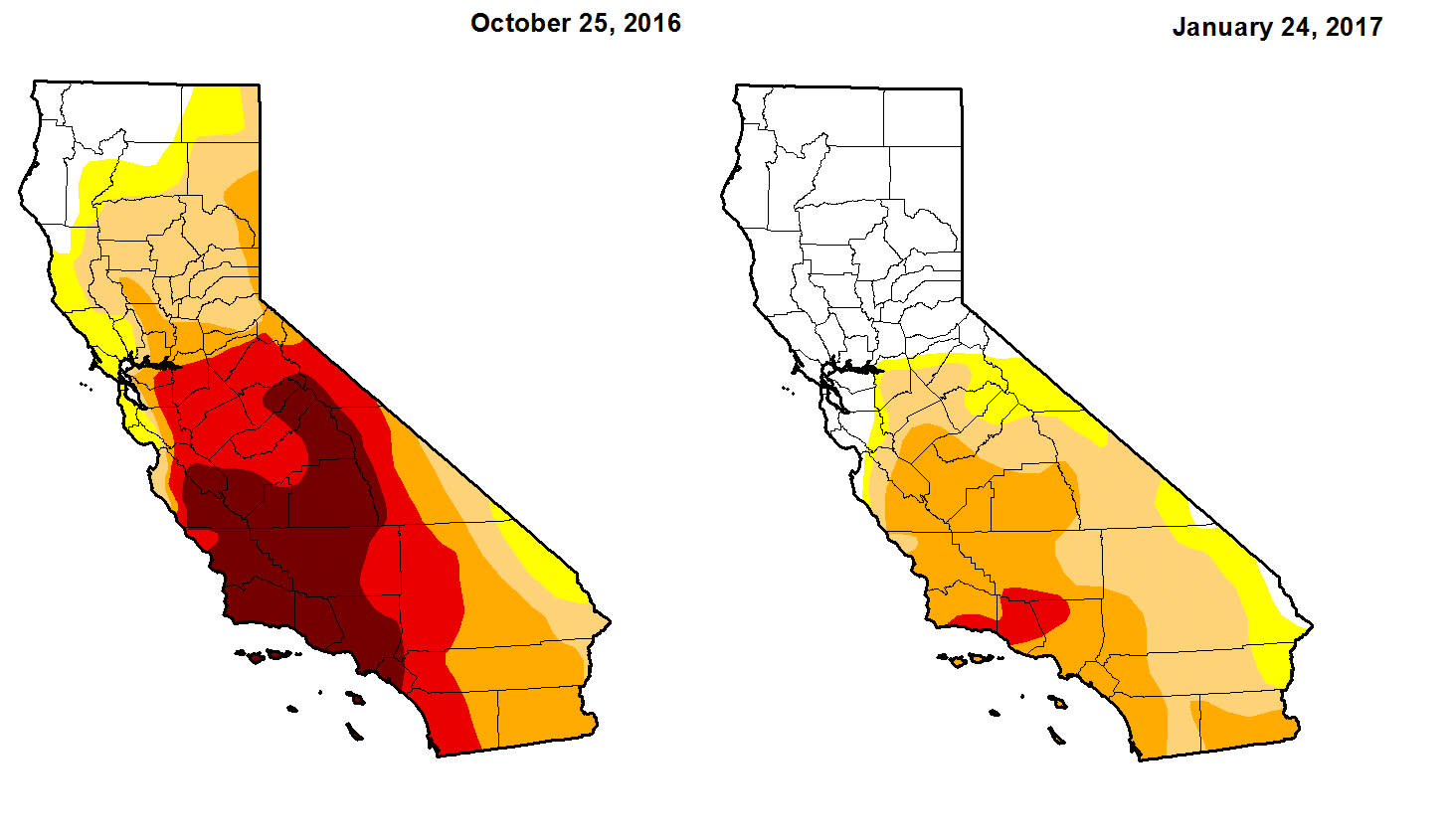 The Worst Of The Drought Is Over For California - Us department of agriculture california drought map history