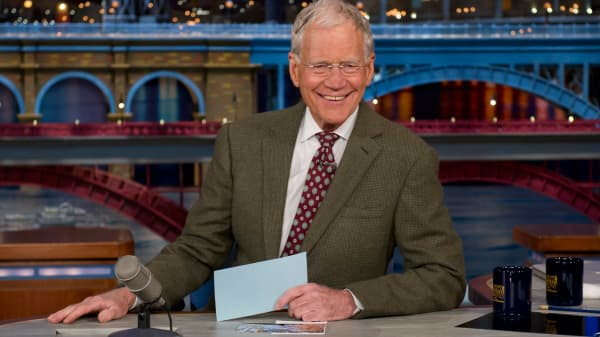 David Letterman was an avid user of index cards on the Late Show with David Letterman.