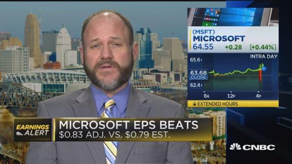 Johnson: 'Overwhelmingly positive' on Microsoft