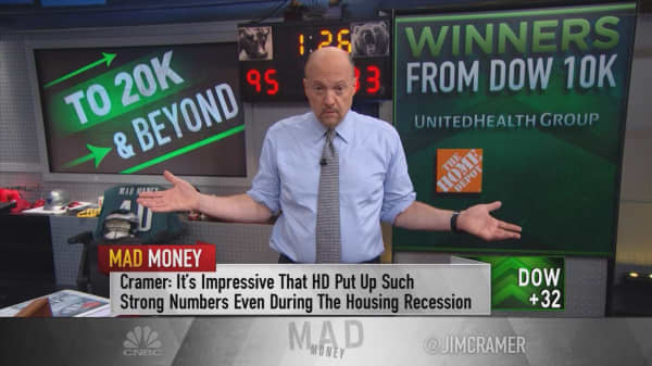 Cramer uses Warren Buffett's investing method to spot 5 long-term Dow winners