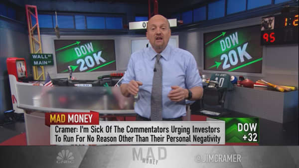 Cramer warns of the dangers to Dow 20k