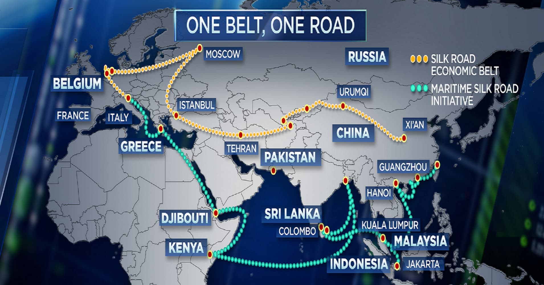 Belt and road infrastructure projects