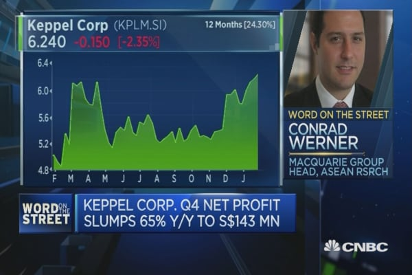 Keppel closing 3 yards in Singapore