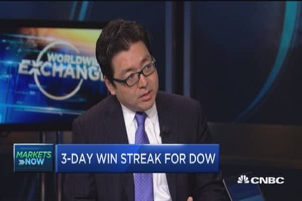 Hard to build on 10% market move: Tom Lee