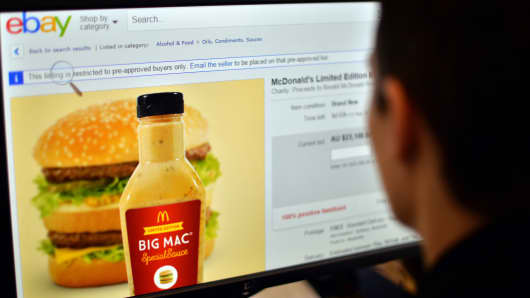 McDonald's Big Mac Special Sauce can be yours for a steep price on eBay.