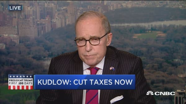 Kudlow: Cut taxes now