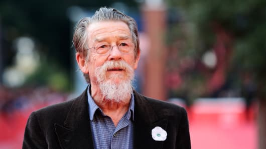 John Hurt appears On The Red Carpet during The 8th Rome Film Festival at Auditorium Parco Della Musica on November 9, 2013 in Rome, Italy.